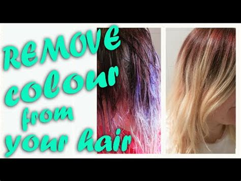 Best Way To Get Hair The by Best Safest Way To Remove Color From Hair Updated
