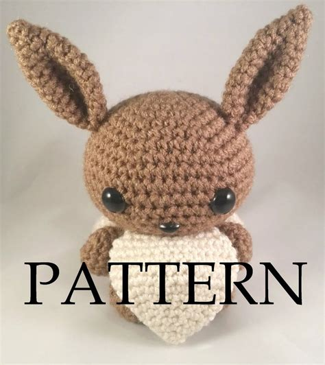 amigurumi eevee pattern eevee amigurumi pattern by the love of crochet on deviantart
