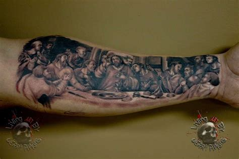 last supper tattoo jerrypipkins last supper disciples religion jesus black