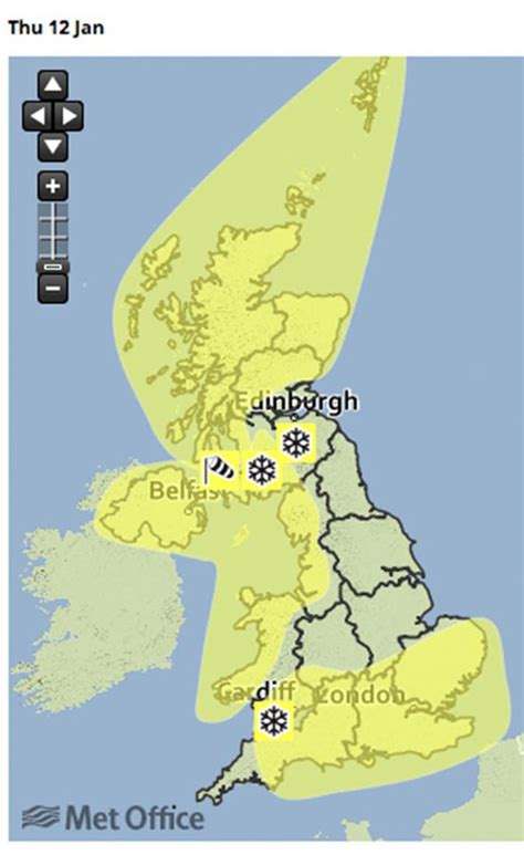 will it snow tomorrow met office weather warning for snow weather forecast whole of uk to be trapped in 10c