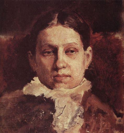 valentin serov portrait of vera repina 1881 valentin serov wikiart org