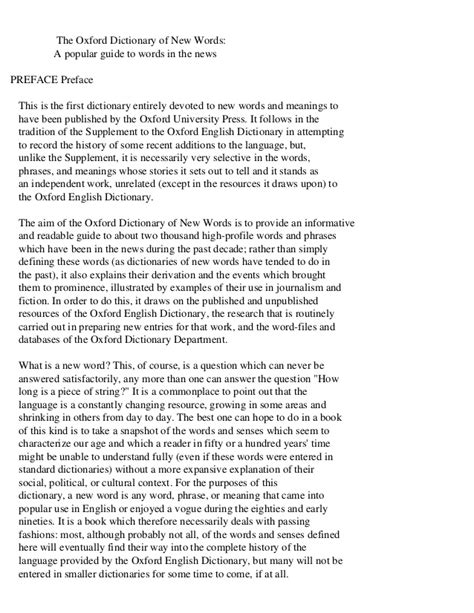 Pdf New Words In The Oxford Dictionary by The Oxford Dictionary Of New Words