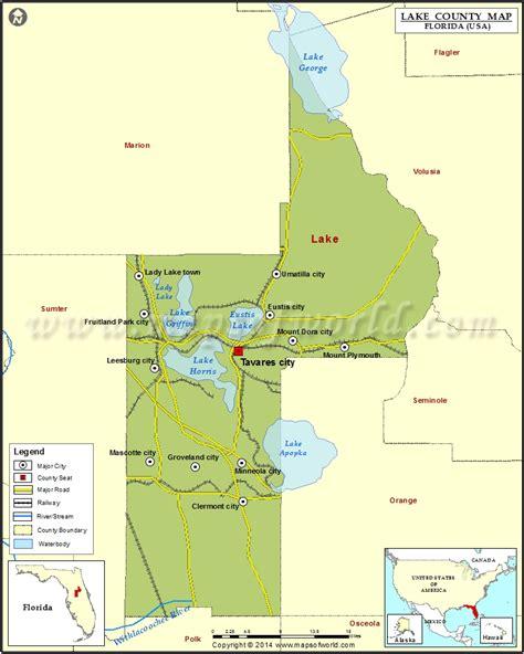county map of florida lake county map florida