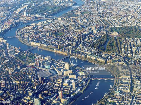 map of river thames united kingdom aerial view over westminster and river thames london