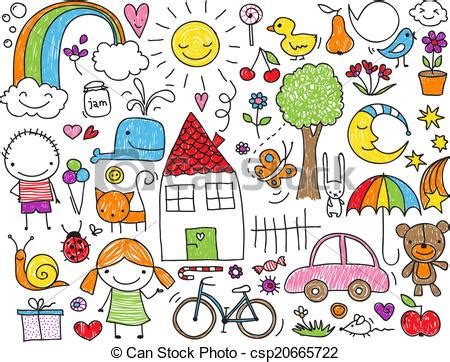 kid doodle free vector illustration of doodle collection of