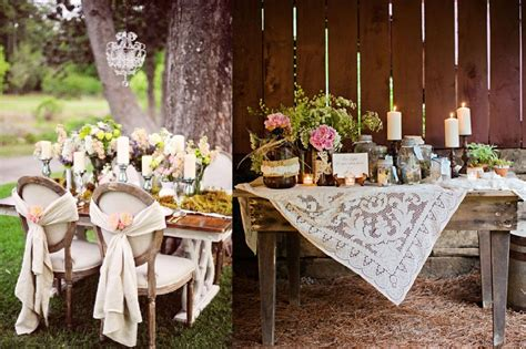 rustic chic wedding table decorations 187 interclodesigns