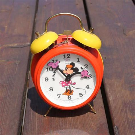 disney minnie mouse dual bell alarm clock by itsstilllife on etsy