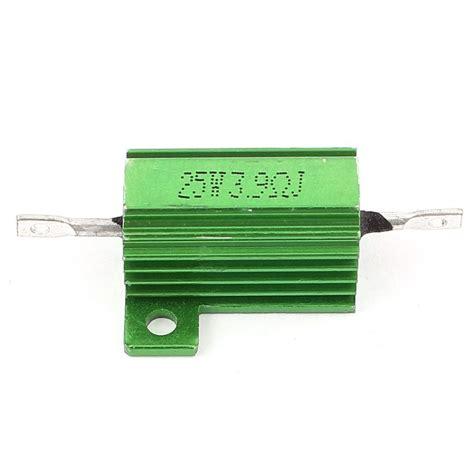 load resistor heat sink 5 pcs green heatsink aluminum housed 25watt 3 9ohm wirewound resistors cp ebay