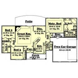 1600 square foot floor plans 1600 square feet 3 bedrooms 2 batrooms 2 parking space on 1 levels house plan 4165 all