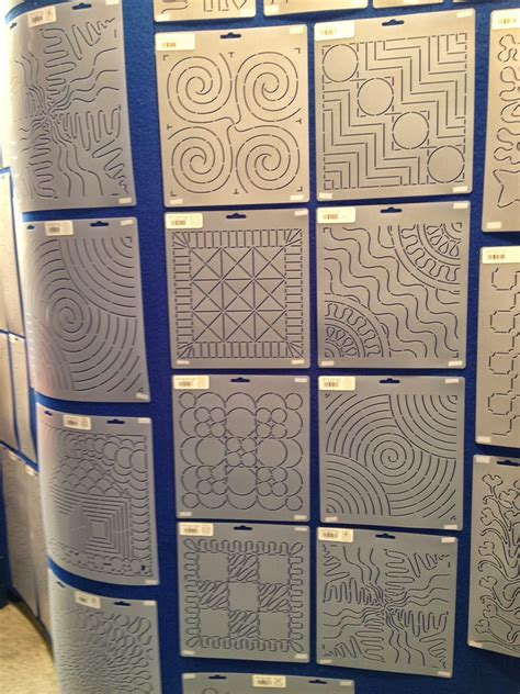 The Free Motion Quilting Project Building Block Stencils How To Use Quilting Templates