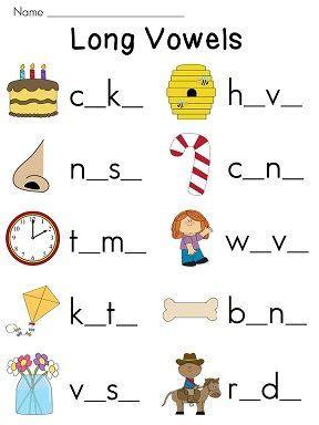 best 25 long vowel worksheets ideas on pinterest vowel