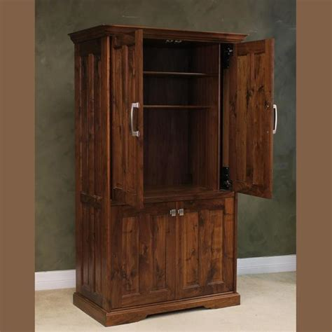 locking computer armoire computer armoire wood revival