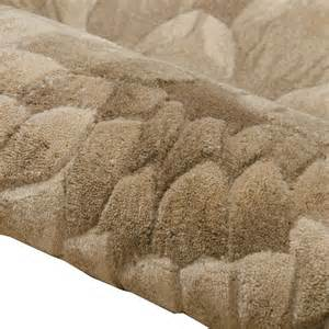 wool rug large nourison tropics floral wool rug taupe green brown 160 x 250cm