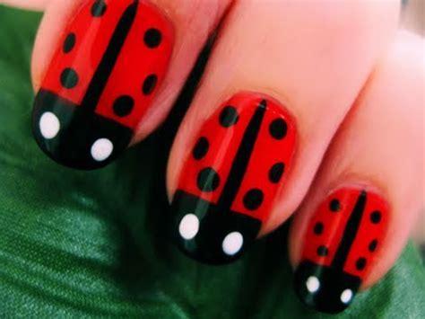 Cute Easy Lady Bug Nail Art Youtube | cute easy lady bug nail art makeup videos
