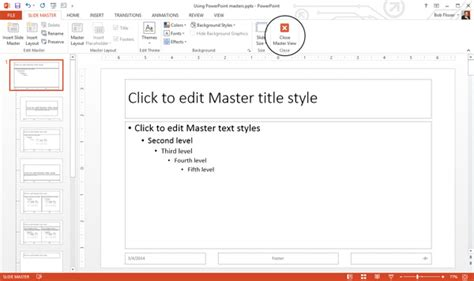 How To Use And Edit Powerpoint Master Slides Edit Ppt Template