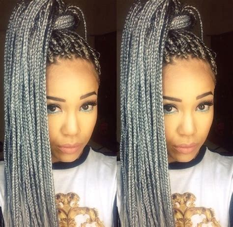 grey braids grey is a fun color to add to your look yelp