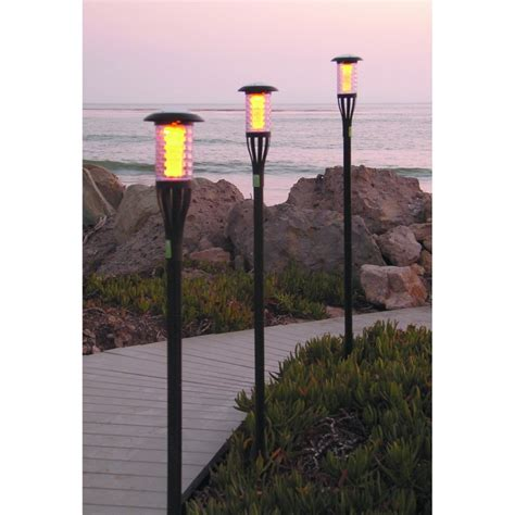 Patio Torch Lights Tiki Torch Solar Light Enjoy The Illumination Of Tropical Torches The Day S Sun Will