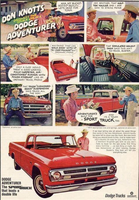 B300 White Promo 1970 dodge adventurer truck ad don knotts