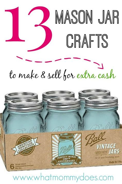 on time and money 6 unique and easy 13 jar crafts to make sell for jars