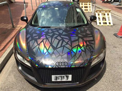 cool wrapped cars holographic audi r8 by impressive wrap holographic