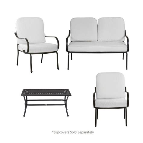 hton bay fall river 4 patio seating set with