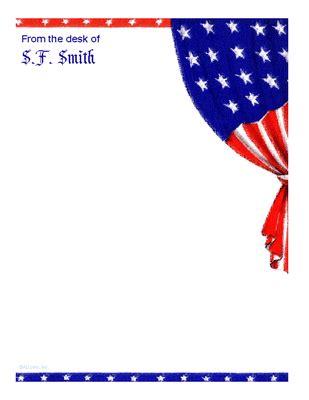 patriotic stationery printable patriotic stationery 4th of july printable card