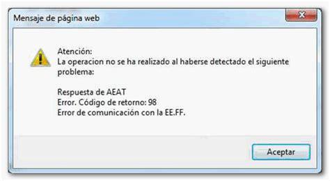 codigo error rheem ff c 243 digo de retorno 98 error de comunicaci 243 n con la eeff