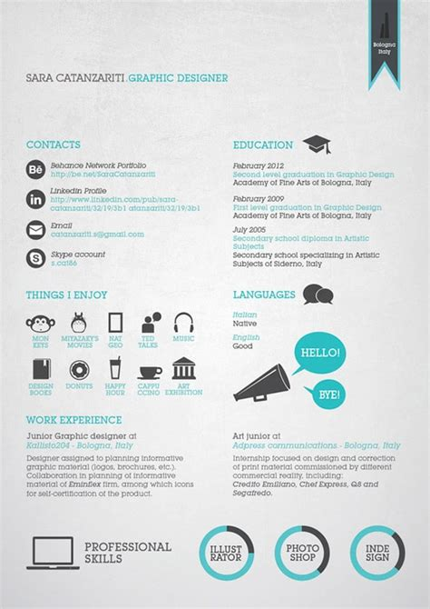 50 great exles of creative resumes designrfix