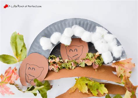 hibernation crafts for hibernating paper plate craft and free template