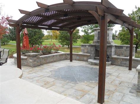 arched pergola plans i really like the fireplace the flooring and shade arched patio cover pergola and patio cover