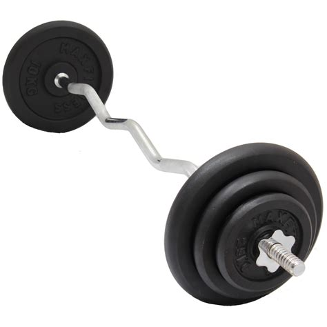 Barbell Weights max fitness ez easy arm curl bar barbell cast iron weights set lifting bar ebay