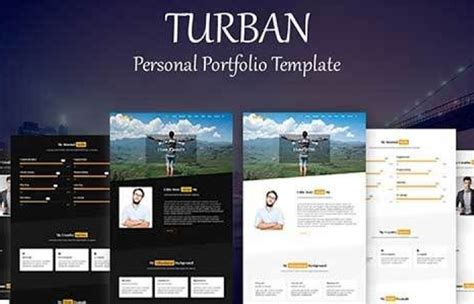 Themeforest Template themeforest turban personal portfolio template