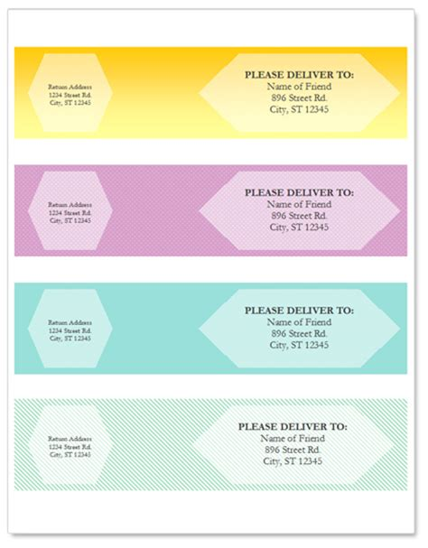 Free Wrap Around Address Label Template For Microsoft Word By Worddraw Com Wrap Label Template