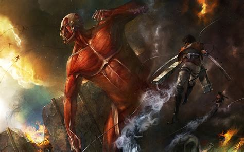 Attack On Titan Giants Ukuran S attack on titan hd wallpaper 1484613 zerochan anime image board