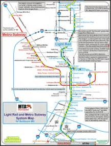 baltimore light rail map my