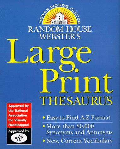 Random House Webster S Large Print Thesaurus Random House Newer Words Faster Random House Random House Webster S Large Print Thesaurus Random House Newer Words Faster