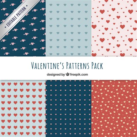 ai pattern pack hearts valentine patterns pack vector premium download