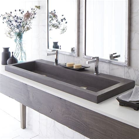 bathroom trough sink very cool bathroom vanity and sink ideas lots of photos