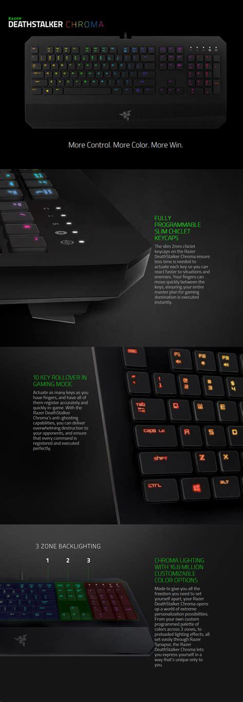 Sale Razer Deathstalker Chroma razer deathstalker chroma gaming keyboard rz03 01500200