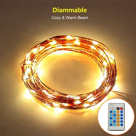 are led christmas lights dimmable thorfire dimmable led starry string lights