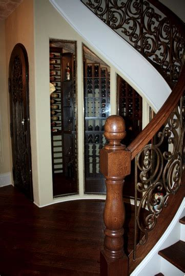 under stair case wine cooler houston home wine cellar under the stairs