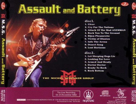 Richards And Pam Sued For Assault And Battery by Michel Schenker Assault And Battery 2cd Giginjapan