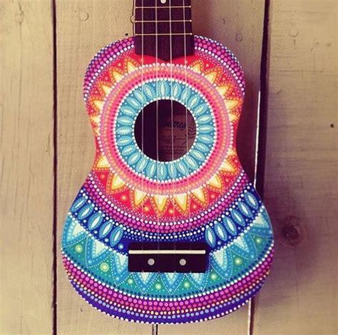 ukulele design instagram hand painted dottilism mandala ukulele by saltyhippieart