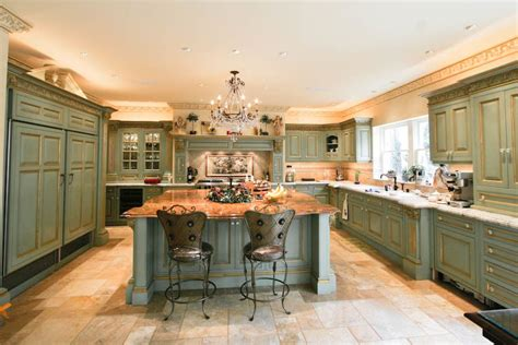 Painted Green Kitchen Cabinets cabinetry