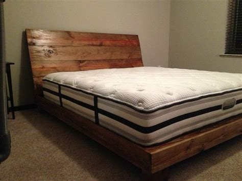 homemade bed frames reclaimed wood bed frame diy 187 woodworktips