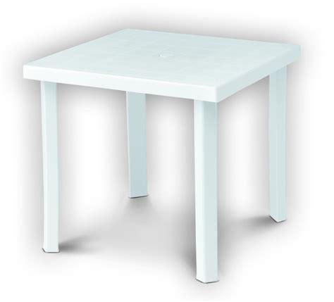 tavolo di plastica tavolo in plastica da giardino 80x80 h 72 colore bianco