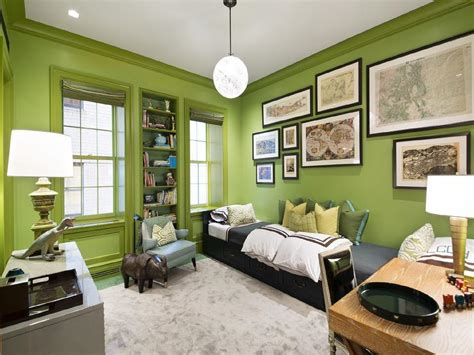 boys bedroom ideas green boys room with green walls design ideas