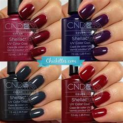 cnd colors cnd shellac swatches winter colors chickettes soak
