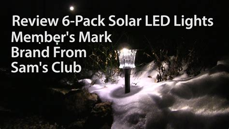 sam s club outdoor lights review members mark 6 pack solar led outdoor lights from