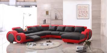 designer furnishings handsome big red sofa design with extraordinary black sofa